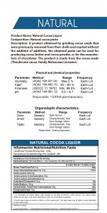 licor cacao natural