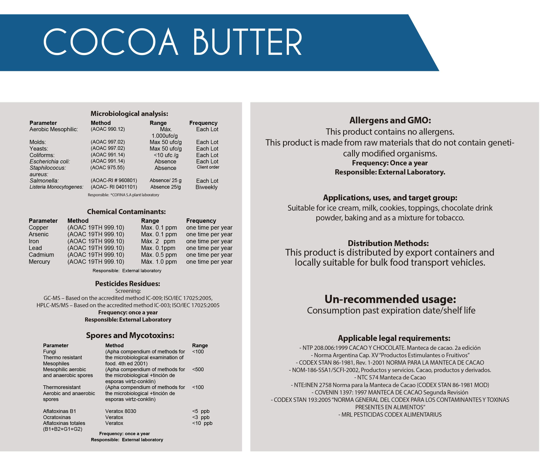 manteca de cacao general info