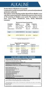 polvo de cacao alkaline