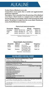 torta de cacao alkaline
