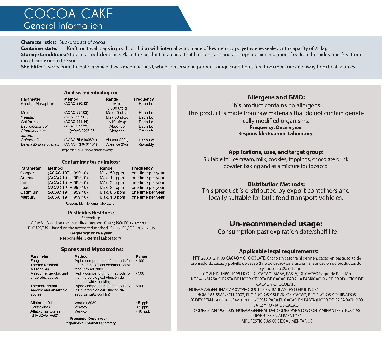 torta de cacao general info